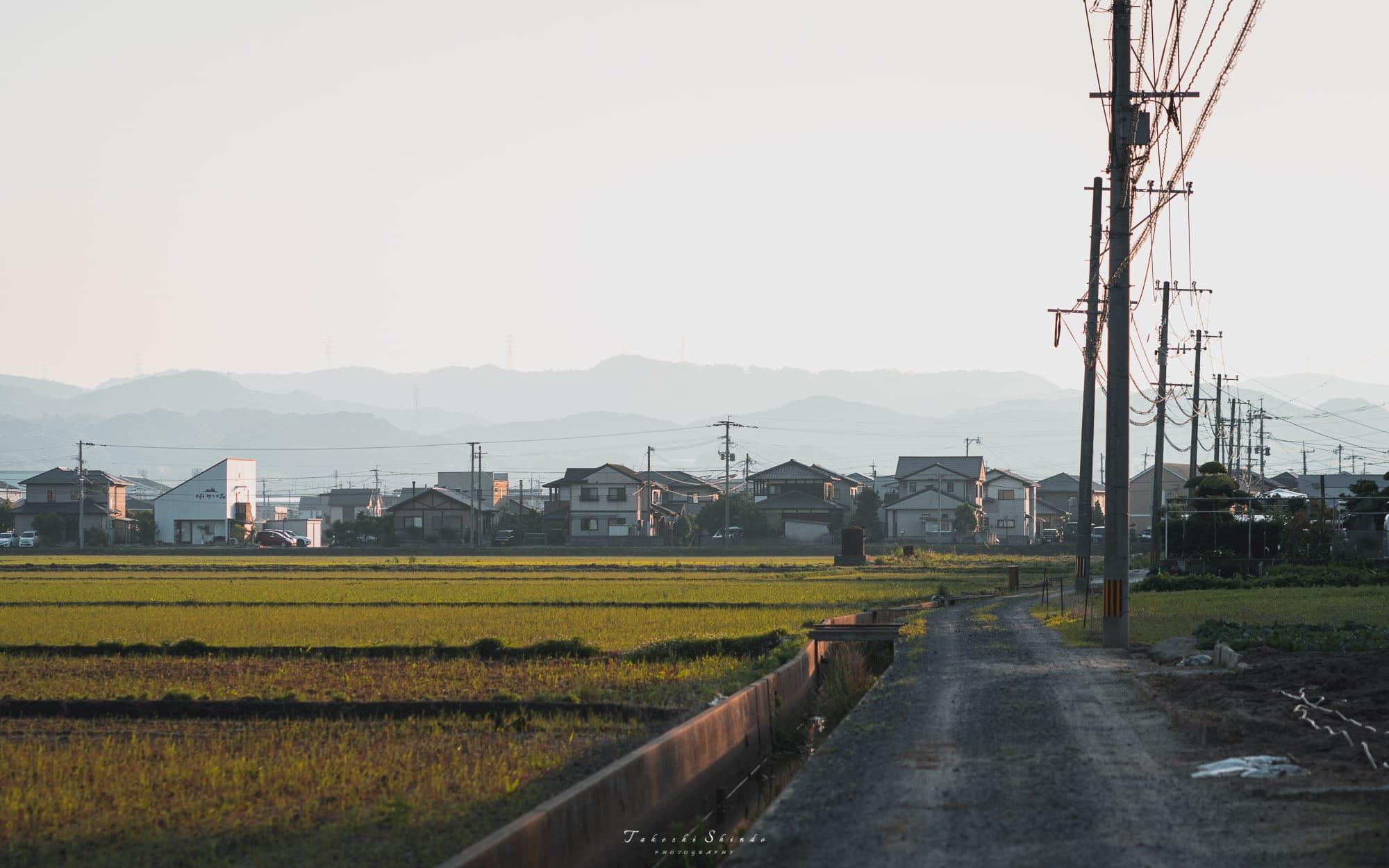 筑肥線沿いの車窓風景